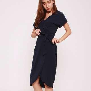 Tracyeinny Navy Blue Dress