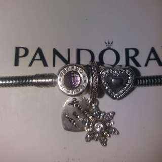 Pandora snowflake heart love is ferever heart pendant charm s925