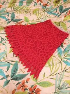Vivienne Tam lace print skirt 🍒