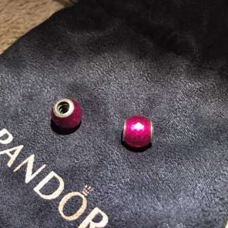 Pandora Silver and Ruby Charm