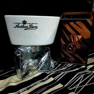 Portable CUTE FONDUE HOLDER Anthon Berg Brand New!!