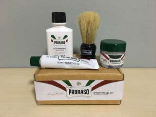 Proraso shaving travel kit