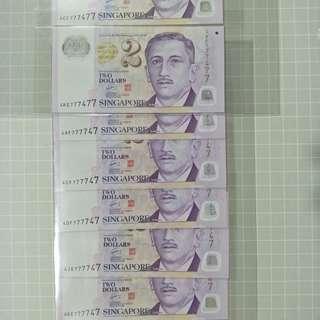 $2 singapore polymer banknotes