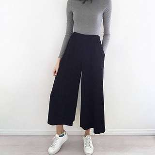 Black Cullotes/ Wide Square Pants