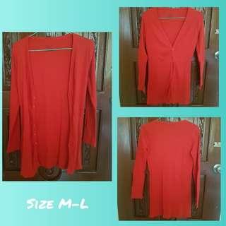 Preloved red cardigan