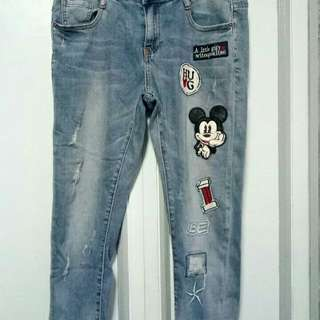 Tattered Patched Denim Pants size 32