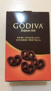 美國直送Godiva dark chocolate covered pretzels