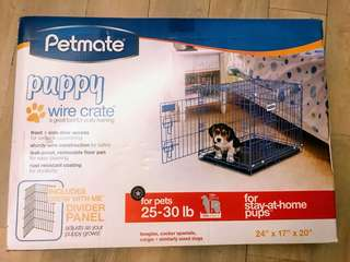 Pets mate puppy crate