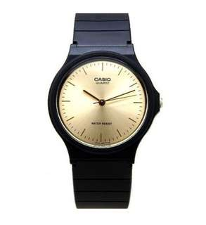 Casio Analog Black Rubber Strap Unisex Watch
