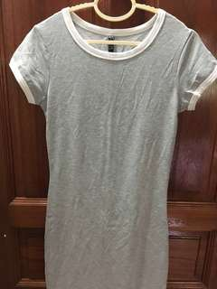 Cotton On Grey Short Sleeved Midi Dress