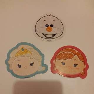 Olaf雪寶/Elsa愛莎/Anna安娜/冰雪奇緣/TSUM TSUM/Disney/Disneyland/迪士尼貼紙
