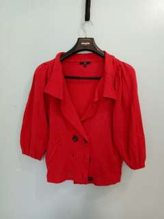Gap Red Jacket Blazer