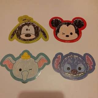 Goofy高飛/Mickey米奇/Dumpo小飛象/Stitch史迪仔/TSUM TSUM/Disney/Disneyland/迪士尼貼紙