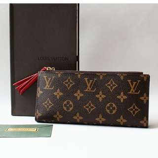 LV Adele Red Wallet