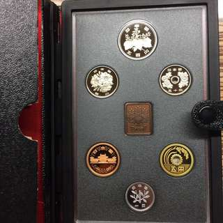 Japan 1991 proof coin set