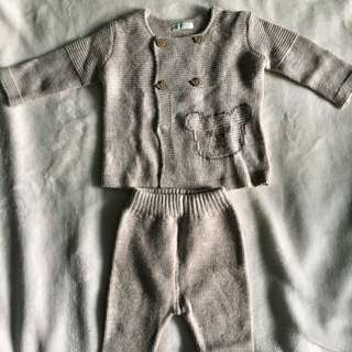 Benetton Baby Knitted Top and Trousers