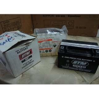STM Motor Battery, YTX7A-BS, 12V 6Ah
