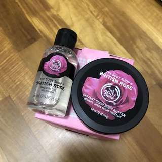 Body shop shower gel & body butter