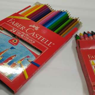 24 Faber Castell Colour Pencils and 18 Jumbo Wax Crayons