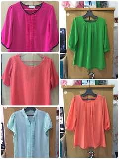 Paket 5 blouse - free ongkir