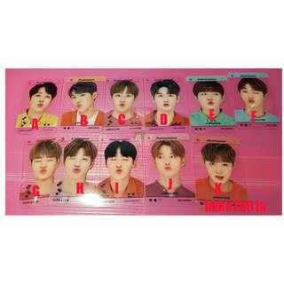 WANNA ONE [ Transparent card ] (分售)★hkko2001a★ Produce 101 透卡 小卡 0+1=1