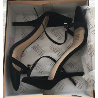 Black Suede Classic Collection Heels / BRAND NEW