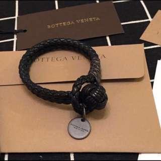 Bottega Veneta BV 黑色 手帶 bracelet 男女合用