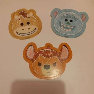 Bullseye紅心/Sulley毛毛/Bambi小鹿斑比/Disney/Disneyland/迪士尼貼紙
