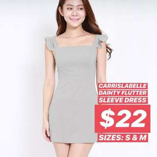 [po] carrislabelle dainty flutter sleeve dress