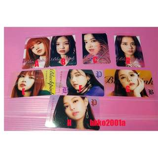 Blackpink [ Transparent card ] (分售)現貨在台★hkko2001a★透卡 小卡 Photo card
