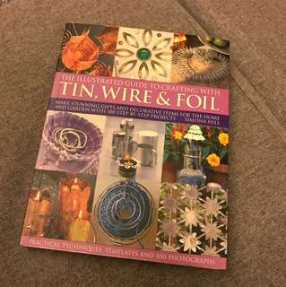 Tin wire foil handicraft book