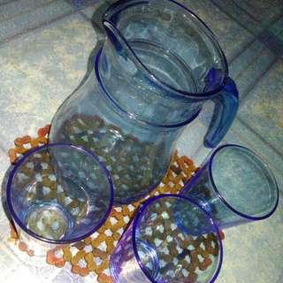 1 pitcher and 3pcs tumbler lemonade set
