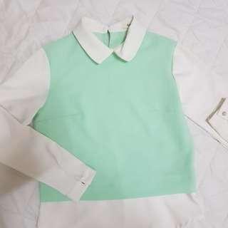Mint long sleeves top