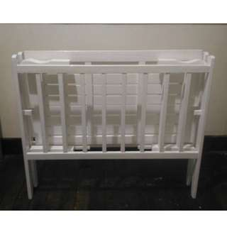 Baby Wooden Crib with free baby bathtub (color Blue)