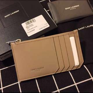 全新 YSL Saint Laurent Classic Paris Leather Card Holder
