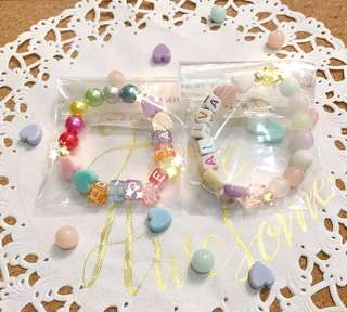 Handmade Bracelets / DIY Bracelets / Goodie Bags / Party Favors / Kids activities / Children activities