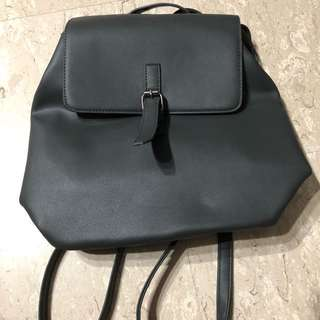 Grey casual backpack