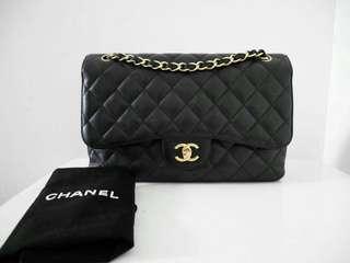Chanel Jumbo Black Cav GHW  (holo db, no card)