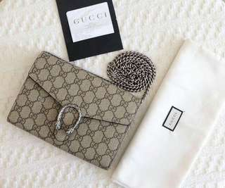 Preloved Gucci Dionysus Wallet On Chain  Comes with: dustbag, receipt, paperbag Price: IDR 14,3jta