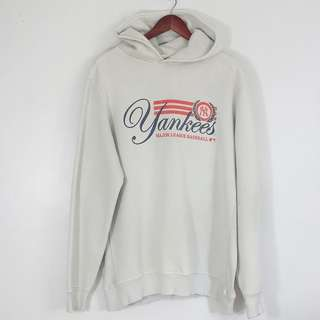 [RESERVED] 90's Style Yankees Light Gray Hoodie