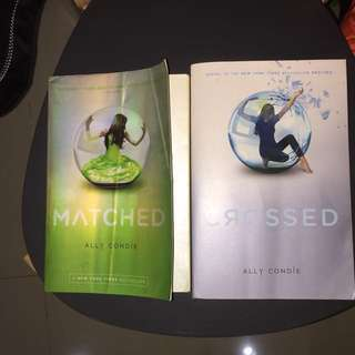 Matched and crossed books set