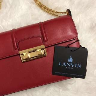 Jiji by Lanvin Bag in smooth calfskin - Small Red