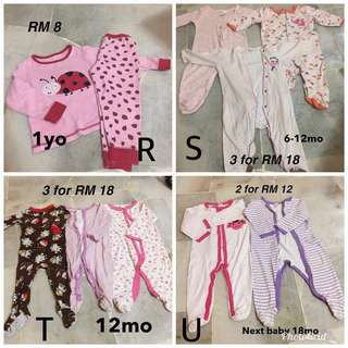 Sleepsuit baby clothes/ pants/shirt/skirt
