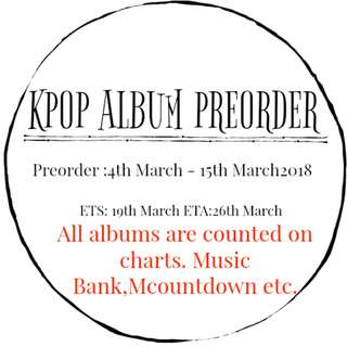 [Preorder ] Kpop Album /DVD/ OST Album