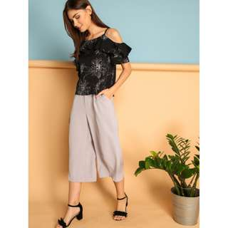 MAILED   BNWT TSW Jermaine Flare Culottes in Grey