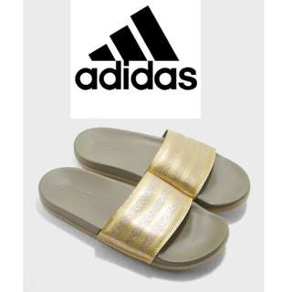 sports shoes a4723 86f5a adidas W Training Adilette Cloudfoam Plus Explorer Slides -GOLD