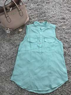 Mint-Colored Sleeveless Top