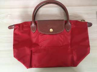 Longchamp 短柄細手提袋(small size tote bag)