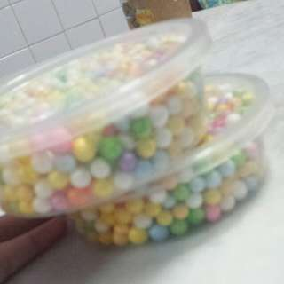 Big Rainbow foam beads/balls