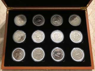 Singapore Lunar Zodiac Coin Set 1981-1992 (Cupro-Nickel)